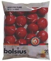 Bolsius Floating Candles Bag 20 - Wine Red